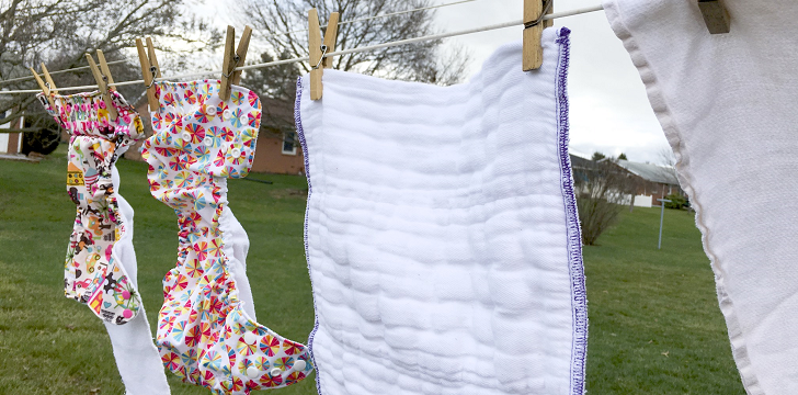 Hanging Cloth Diapers